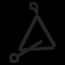 Triángulo instrumento musical negro