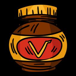 Dibujado a mano tarro de Vegemite