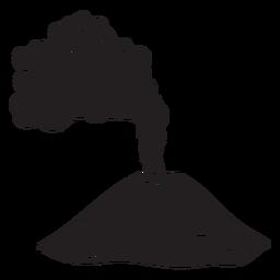 Erupción volcánica negro