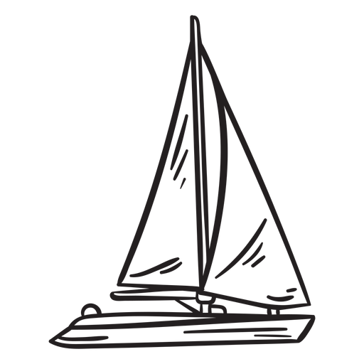 Yacht stroke Transparent PNG