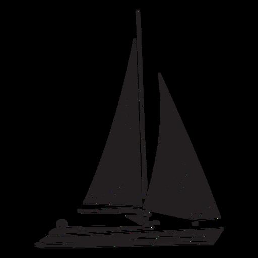 Yacht black Transparent PNG