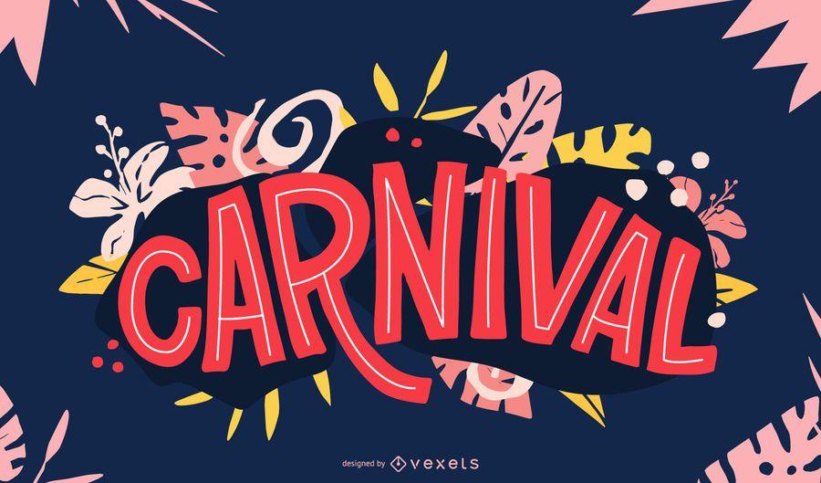 Diseño de letras con estilo de carnaval