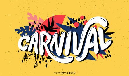 Carnival Handwriting Lettering Design