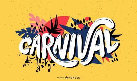 Design de letras de caligrafia de carnaval