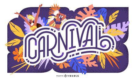 Diseño de letras estacionales de carnaval