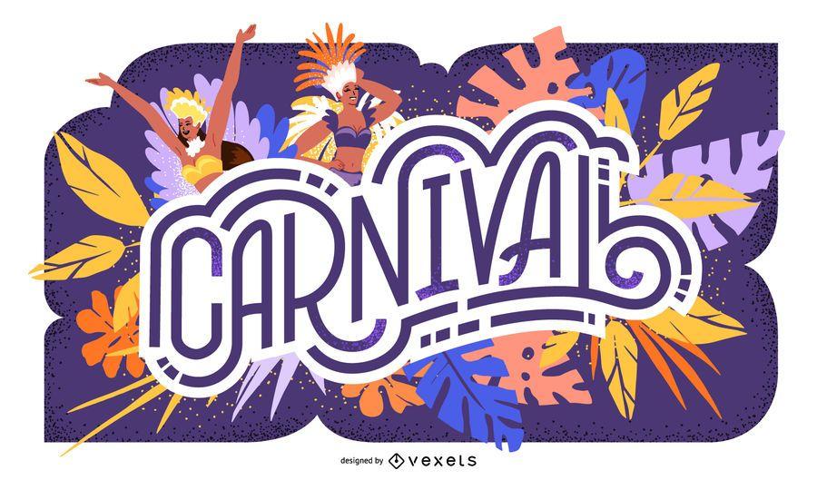 Design de letras sazonais de carnaval
