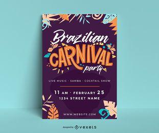 Brasilianisches Karneval Party Poster
