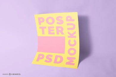 Design de psd de maquete de cartaz