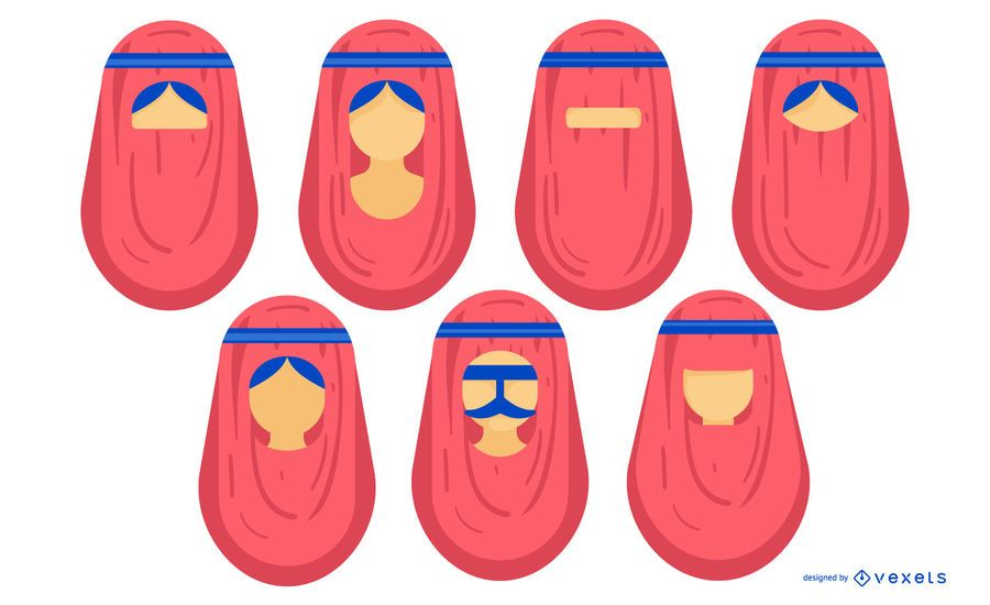 Arab People Face Design Pack