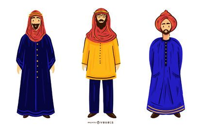 Arab Men Character Illustration Pack