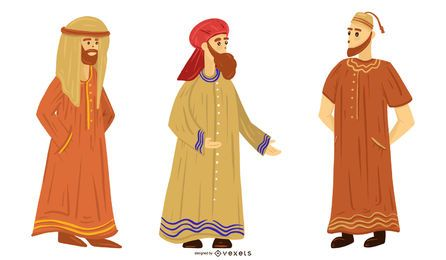 Arab People Illustration Set