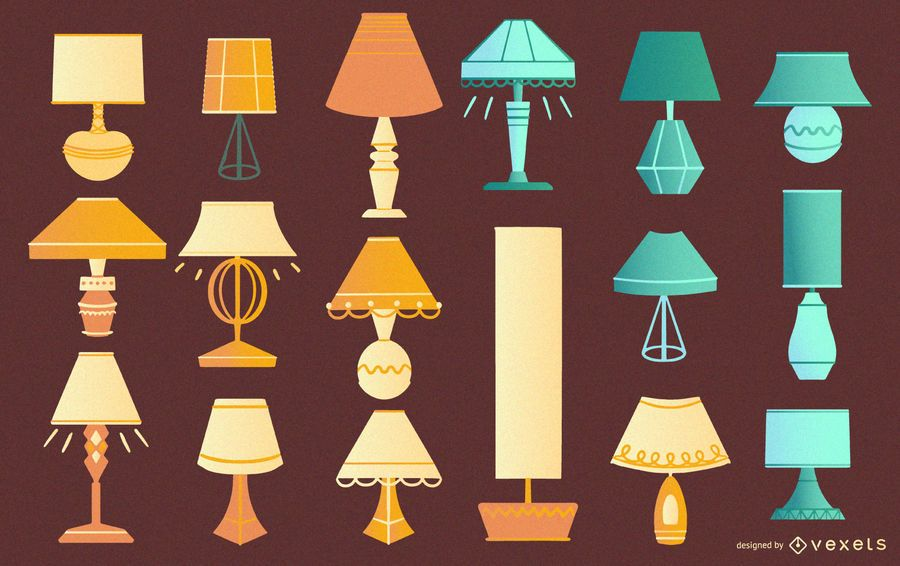 Desk lamps flat collection