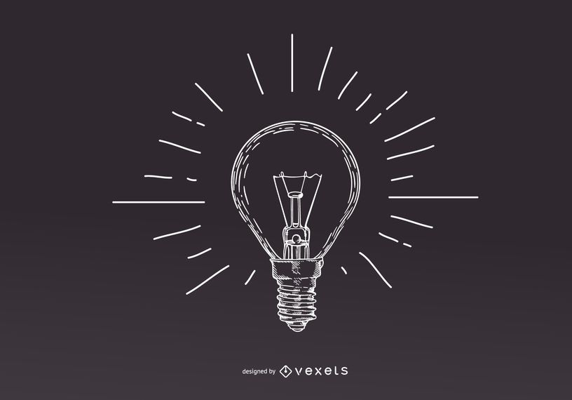 Stroke Light Bulb Illustration Design