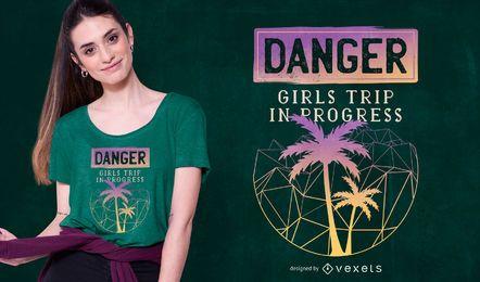 Design de t-shirt de viagem de meninas