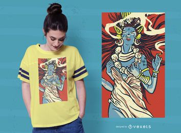 Projeto do t-shirt da deusa de Kali