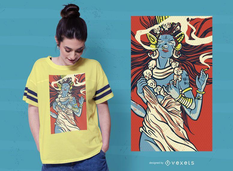 Design de camisetas da Deusa Kali