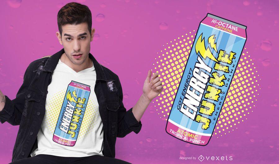 Diseño de camiseta Energy Drink