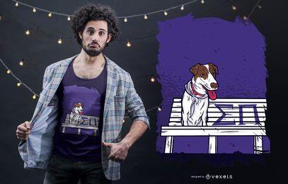 Projeto do t-shirt do cão de Sigma Pi
