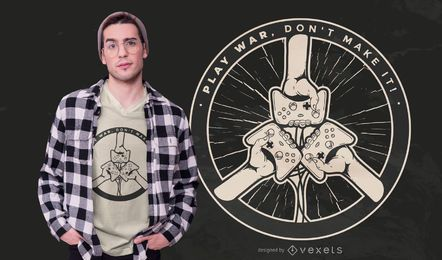 Gamer war quote t-shirt design