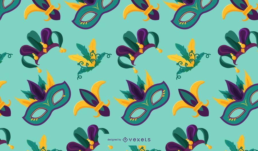 Diseño de patrón de mardi gras