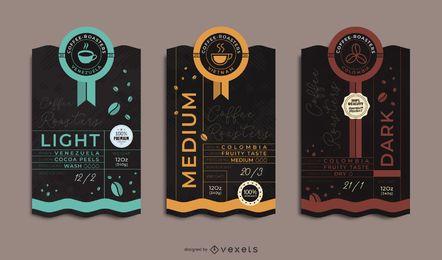 Premium-Kaffee-Verpackungsetiketten-Set