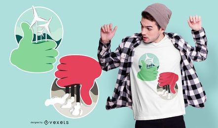 Diseño de camiseta de energía renovable