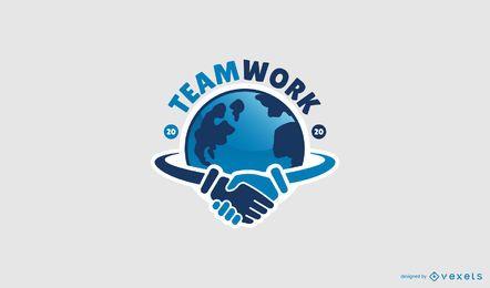Design de logotipo profissional de trabalho em equipe