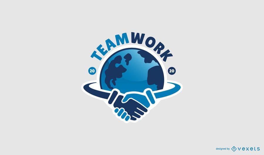 Diseño de logotipo profesional de trabajo en equipo