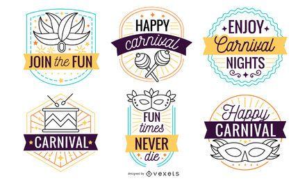 Conjunto de crachá de carnaval