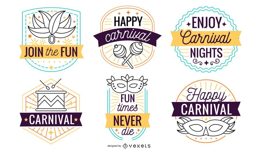 Carnival badge set