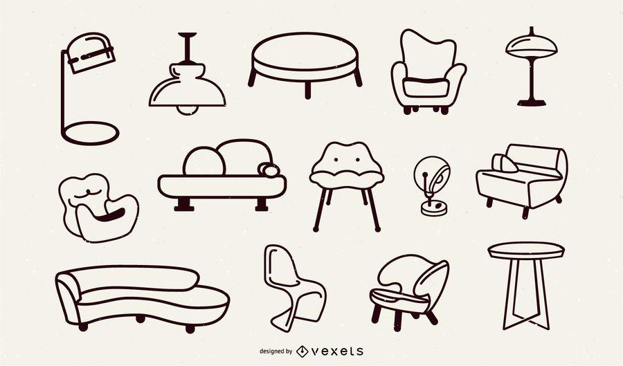 Pop Art Stroke Furniture Set