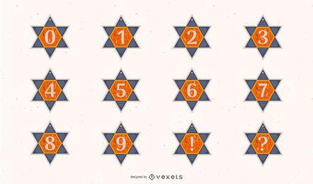 Conjunto de números de estrela de david