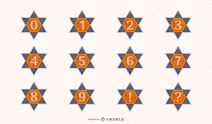 Star of david numbers set