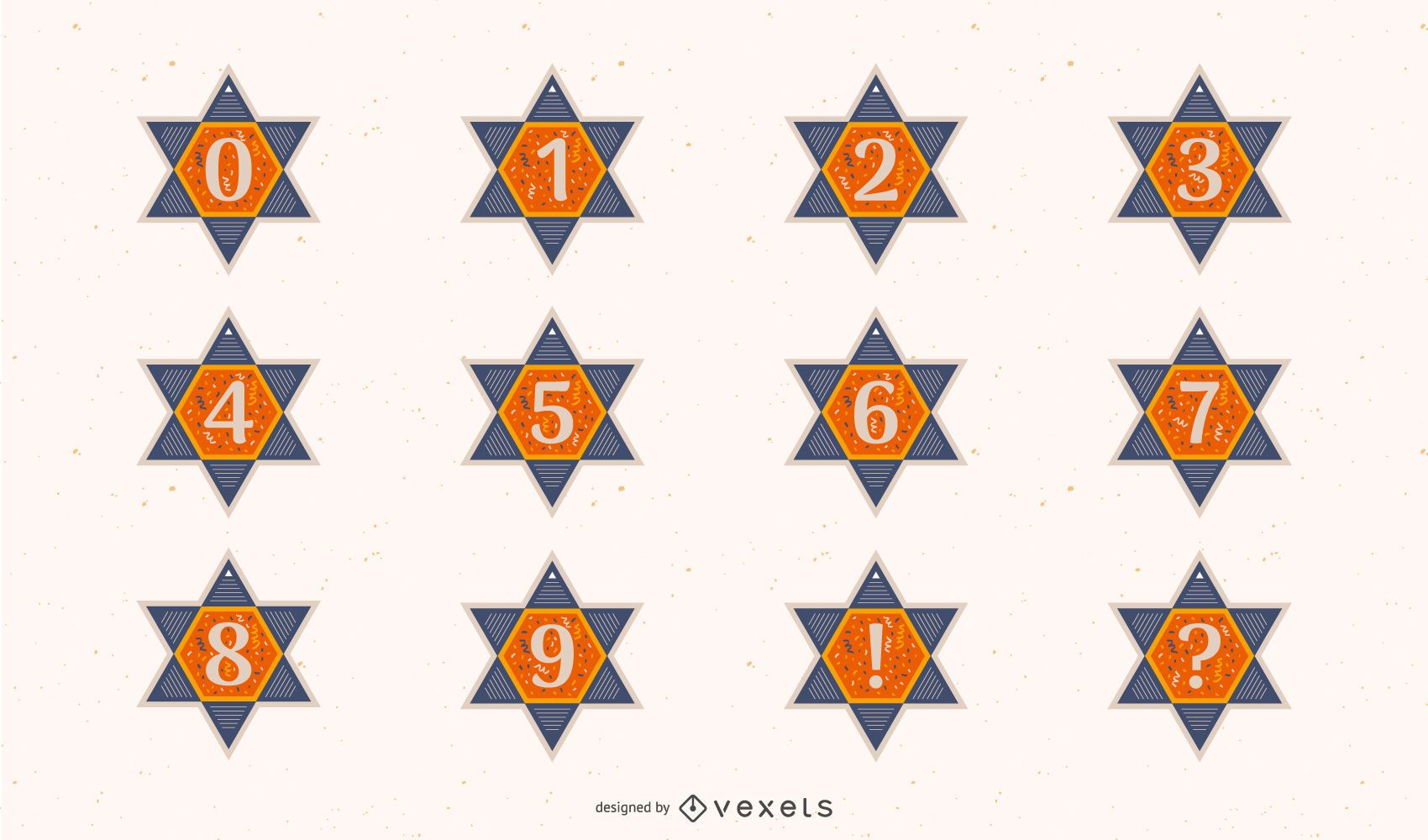 Star of david numbers set