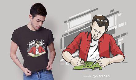 Design de t-shirt de homem de solda