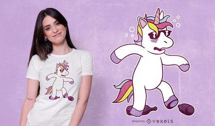 Diseño de camiseta de resaca de unicornio