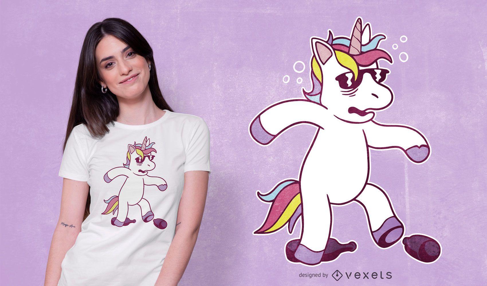 Diseño de camiseta Unicorn Hangover