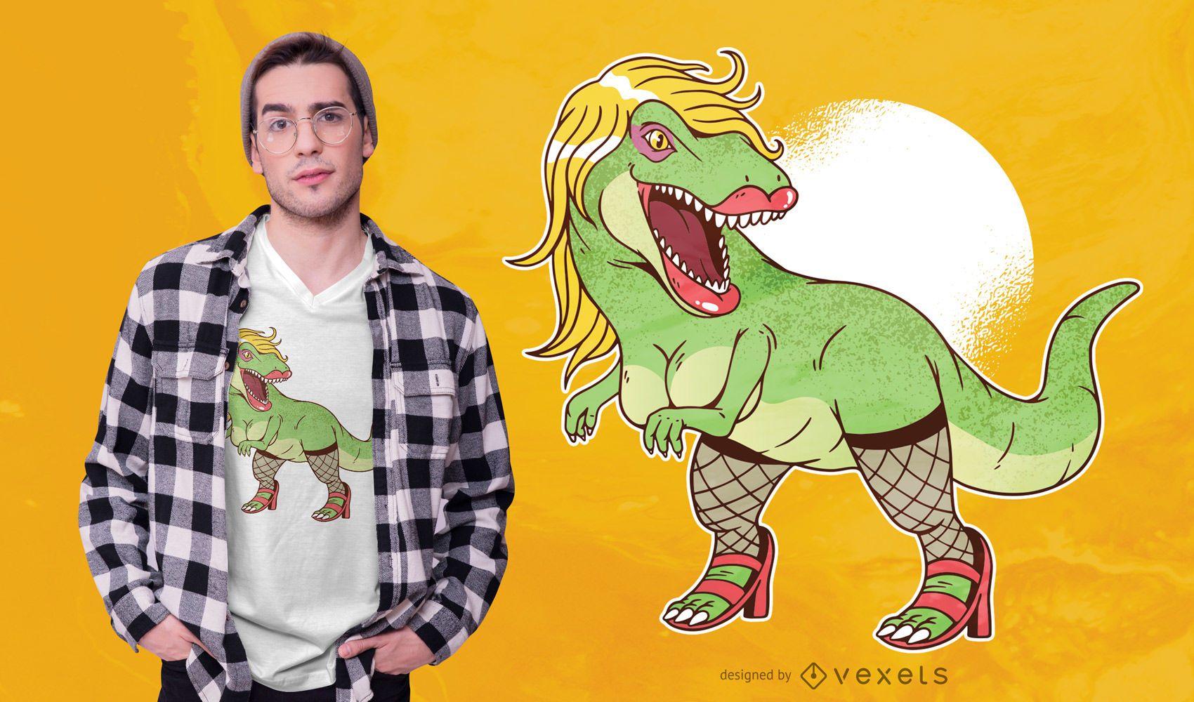 Diseño de camiseta sexy T Rex
