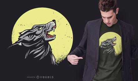 Howling Wolf T-shirt Design