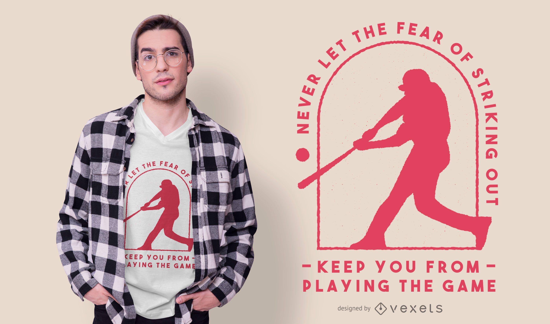 Design de camiseta com citações de beisebol