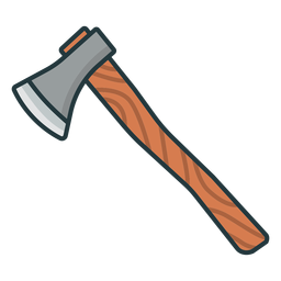 wooden axe colored