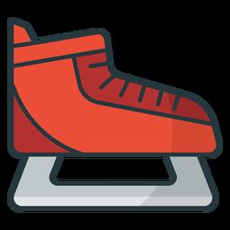 sapato de patinação no gelo colorido