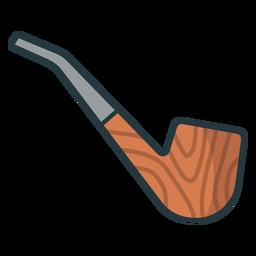 einfache Pfeife rauchfarben