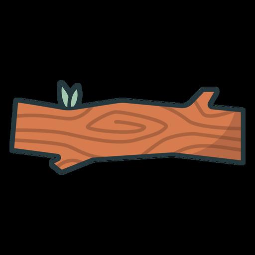 tronco de árbol simple de color