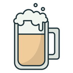 beer mug colored stroke