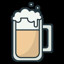 trazo de jarra de cerveza de color