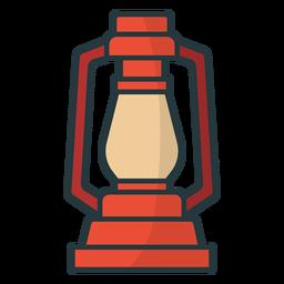 linterna de lámpara de color simple