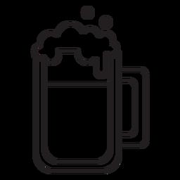 beer mug stroke