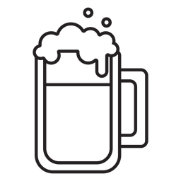 trazo de jarra de cerveza