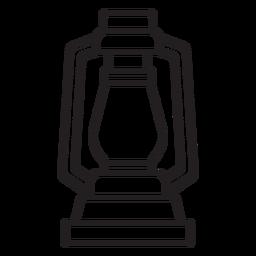 trazo de linterna de lámpara simple
